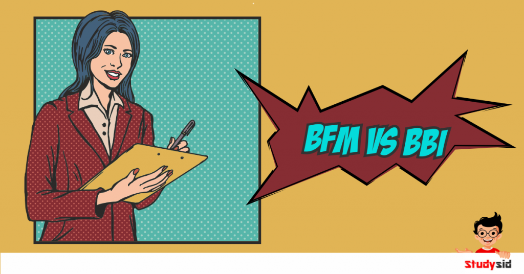 BFM and BBI differences